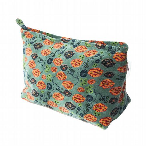 Printed Cotton Velvet Washbag -  Bundi Silex